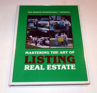 TOM HOPKINS - MASTER THE ART OF LISTING REAL ESTATE 8 TAPES+CD Backups MSRP $125