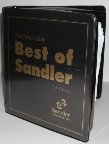 BEST OF SANDLER 16 CD  PRESIDENTS CLUB TRAINING - SELL YOURSELF RICH - BRAND NEW