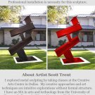 Modern Art Abstract Sculpture Metal Outside   GLY7
