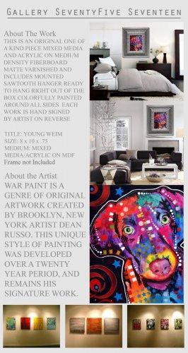 WEIMARANER Pop Art Dog Mixed Modern Art Abstract  GLY7