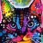Cat Kitty Pop Art Dog Mixed  Modern Art Abstract GLY7