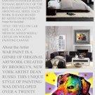 YELLOW LAB Pop Art Dog Mixed Modern Art Abstract GLY7