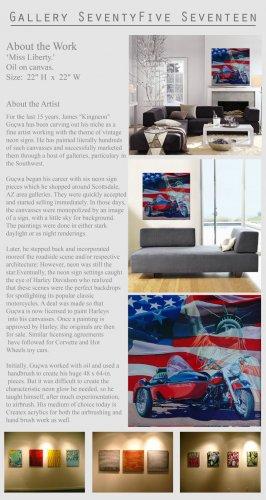 Original Painting Art Realism Harley Motorcycle  GLY7