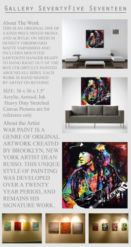Stevie Ray Vaughan Painting Modern Art Abstract   GLY7