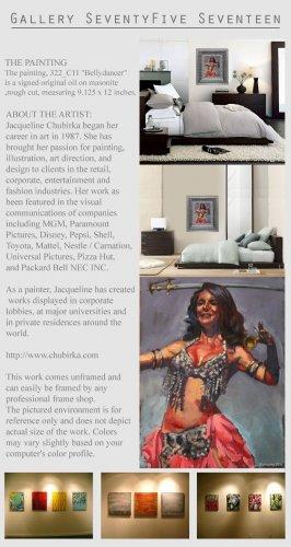 Original Painting Art Realism Modern Bellydancer  GLY7