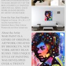 Jimi Hendrix  Pop Painting  Modern Art Abstract  GLY7