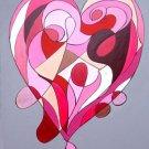 Modern Wall Sculpture Heart Abstract Art Painting GLY7