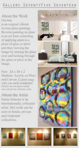 Modern Abstract Art Painting Sculpture Wall Glass GLY7