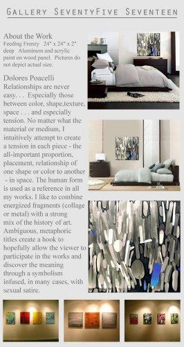 Modern Abstract Wall Sculpture Aluminum Metal Art GLY7
