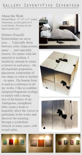 Modern Abstract Square Cube Sculpture Metal Art   GLY7