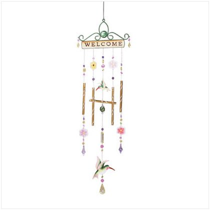 "HUMMINGBIRD ""WELCOME"" WINDCHIME - 34364"
