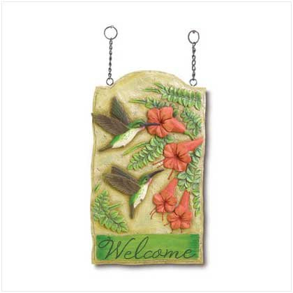 HUMMINGBIRD WELCOME SIGN - 37730