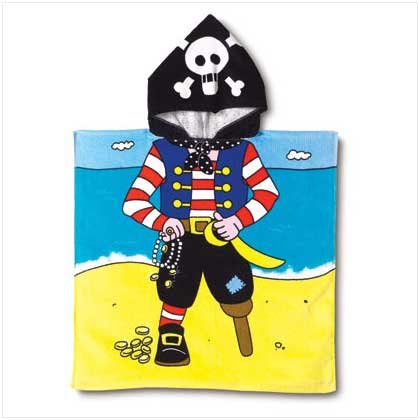 PIRATE HOODED BEACH TOWEL - 37750