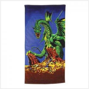 DRAGON PRINT BEACH TOWEL - 37859