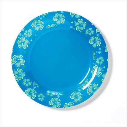 BLUE HAWAIIAN MELAMINE SALAD PLATE - 36680