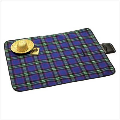 PLAID PICNIC BLANKET - 38118