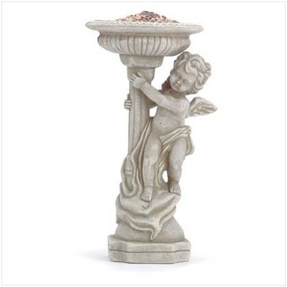 Cherub Bird Feeder/Bath