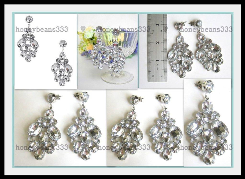 New Acrylic Crystal Chandelier Dangle Stud Earrings 59