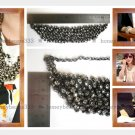 Handmade Statement Crystal Rhinestones Bib Necklace V3