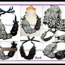 Statement Crystal Rhinestone Handmade Bib Necklace V1