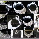 New Handmade White Rhinestone Crystal Bib Necklace 049
