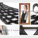 New Trendy Gorgeous Handcrafted BLACK Bib Necklace 026B