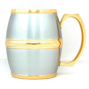 Carlson Barrel Mug (Gold Trimmed - A) - G1211