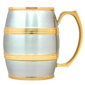Julian Barrel Mug (Gold Trimmed) G1253