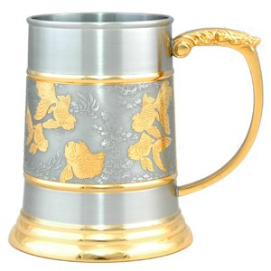 Gold Fish Tankard (Gold Trimmed - A) - G2209