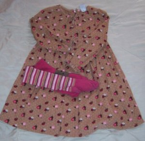 BABY GAP Corduroy Dress Tights 4T TREEHOUSE WOODSY EUC