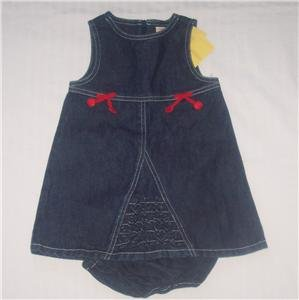 Gymboree GOOD OLD DAYS Denim Dress Sz 18-24 Months NWT