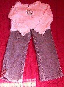 Gymboree CLASSROOM KITTY Shirt Corduroy Pants 4T GUC