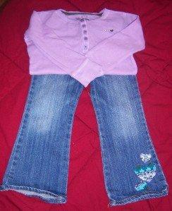 GAP TREEHOUSE WOODSY Jeans Shirt EUC 3 3T FALL