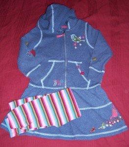 Baby Gap TREEHOUSE WOODSY Dress Leggings 4T FALL HTF