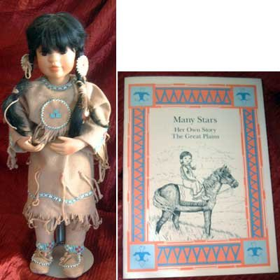 'Many Stars' Native American Doll Booklet Vintage Mint