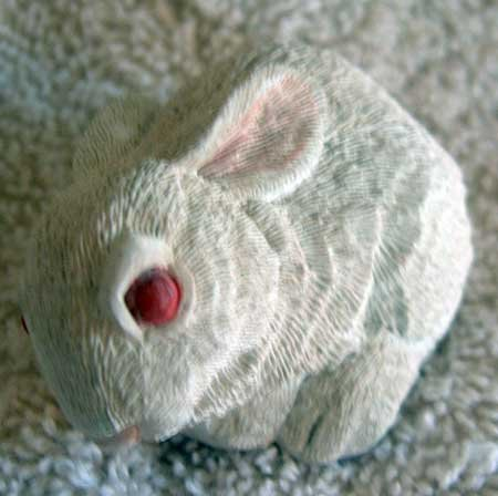 Bunny Rabbit Figure Stone Look Critter