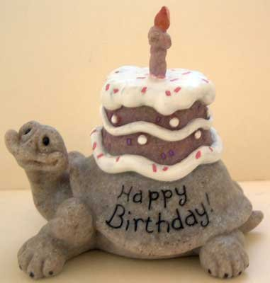 Turtle : 'Happy Birthday' : Quarry Critters : Vintage : Mint