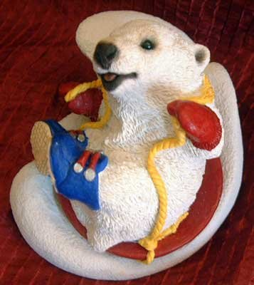 Stone Critters : Polar Bear on Sled : United Design