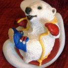 Stone Critters : Polar Bear on Sled : United Design
