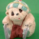 Stone Teddy Bear Animal Critter on Ice Skates