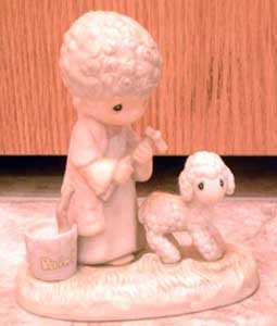 Precious Moments : His Sheep Am I : Enesco Porcelain