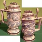 Car Race Avon Collector's Stein Raised Lid Design