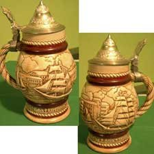 Great Ships Avon Collector's Stein Raised Lid Design