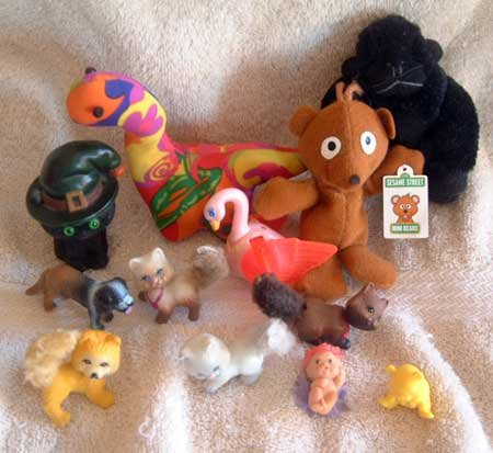 LOT Misc. Toys GUC Gorilla Dinosaur Cats Fairy Bear Swan