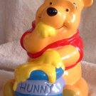 Disney POOH BEAR & Honey Pot Bank Vintage Mint
