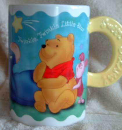 Pooh Mug : Twinkle, Twinkle Little Star : Vintage Mint
