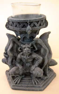 Gargoyle Trio Tea Light Tealight Candle Holder NWT