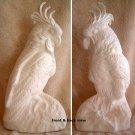 Ceramic Bisque PARROT Exotic Bird Large Beauty!
