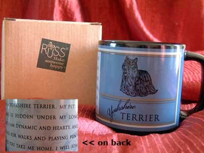 YORKSHIRE TERRIER Dog Russ Coffee Tea MUG Cup NIB