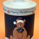 Teddy Bear Holiday Christmas Lidded Candle Jar